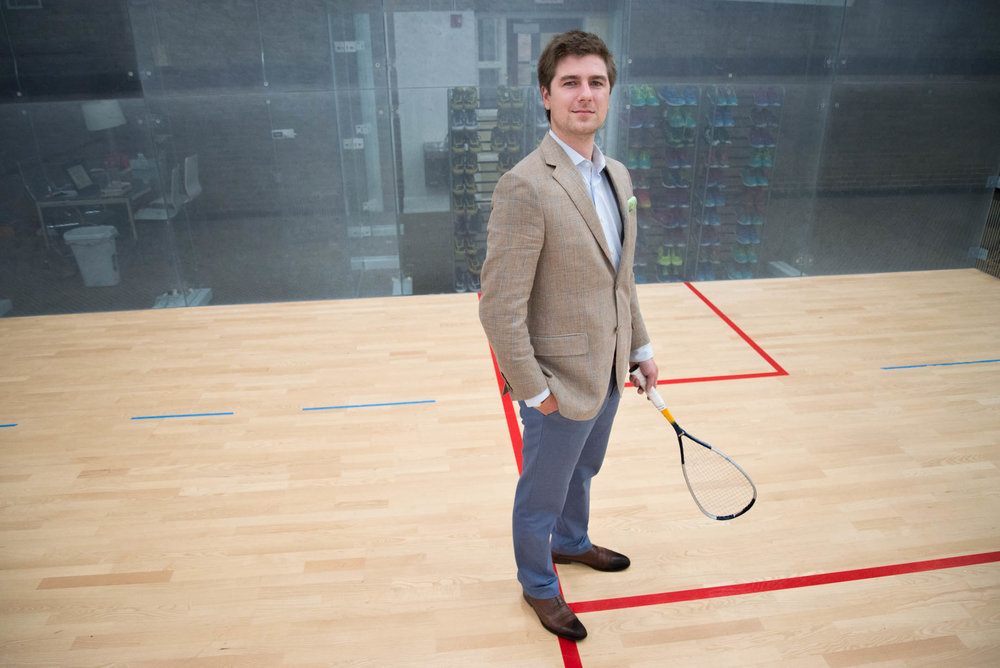Austin Schiff, executive director of the Cincinnati Squash Academy.
