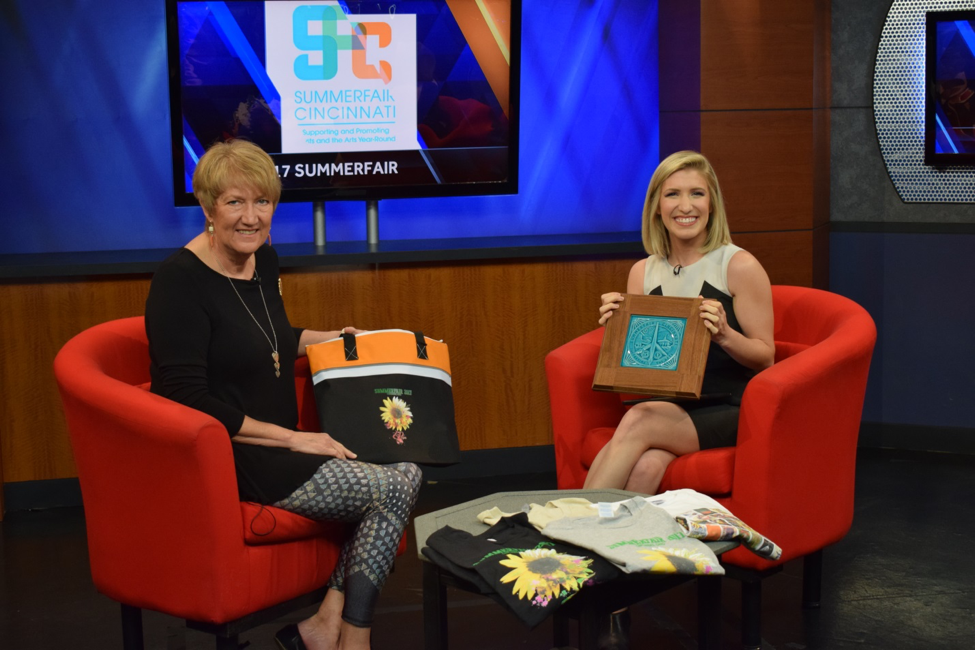 Jayne Utter, managing director of Summerfair, with WLWT's Megan Mitchell.