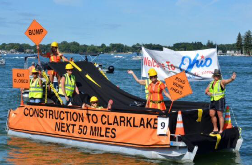"Last year's Raft-O-Rama entry: ""State of Ohio,"" which won Best Costume-Only."
