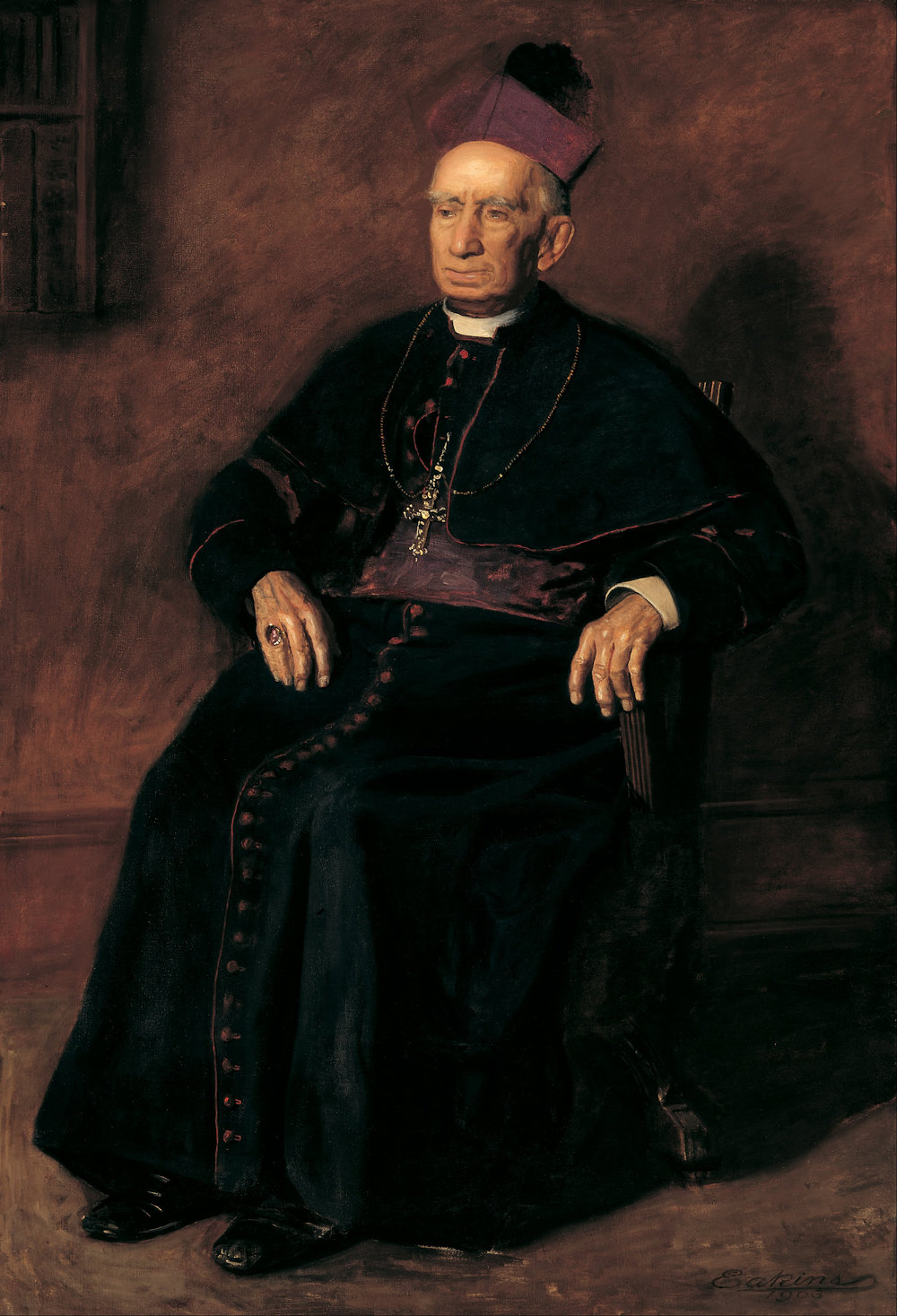 Archbishop William Henry Elder, portrait by Thomas Eakins.