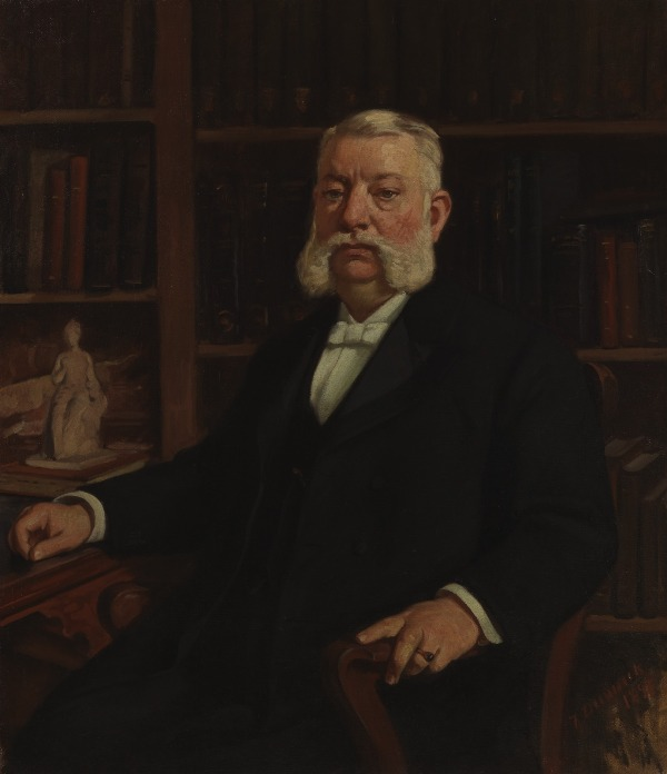 Sir Alfred Traber Goshorn, the first director of the Cincinnati Art Museum, portrait by Frank Duveneck.