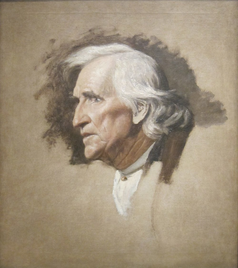 Study Head of a Man by Cincinnati artist Thomas Satterwhite Noble.