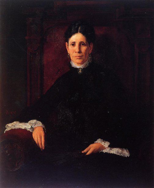 Frances Schillinger Hinkle, a portrait by Frank Duveneck of a mother of nine who was a member of the Women's Art Museum Association, which founded the Cincinnati Art Museum.