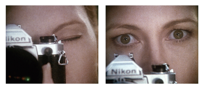 Anne Collier , Woman with a Camera   (35 mm, diptych),  2009. Inkjet print, 20⅜×24 inches. Courtesy of the artist; Anton Kern Gallery, New York; Galerie Neu, Berlin; The Modern Institute/Toby Webster Ltd., Glasgow; and Marc Foxx Gallery, Los Angeles. © Anne Collier Image approved for limited use.