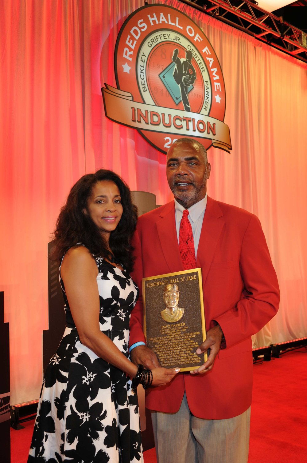 Dave Parker with wife, Kellye, at Reds Hall of Fame Gala, 2014