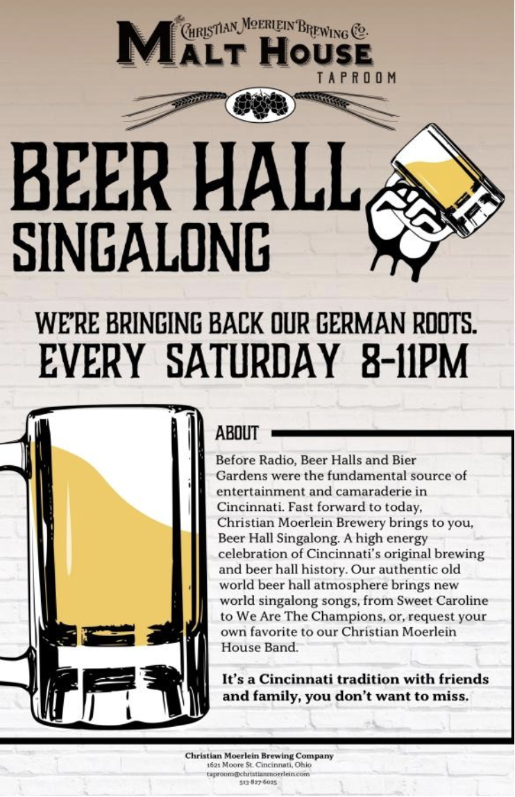 CM Beer Hall Singalong