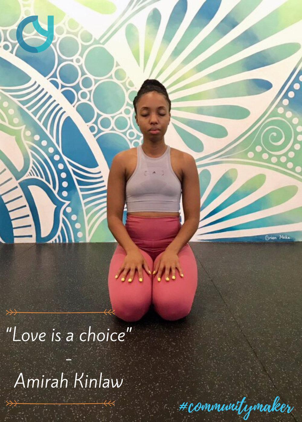 Amirah Kinlaw Community Yoga
