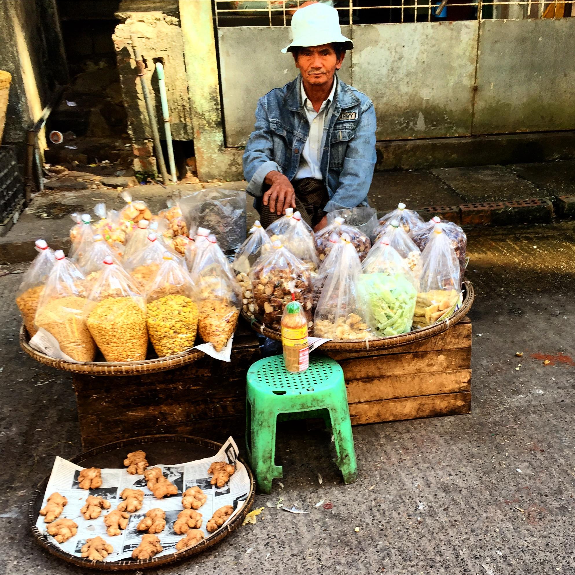 burma myanmar yangon market