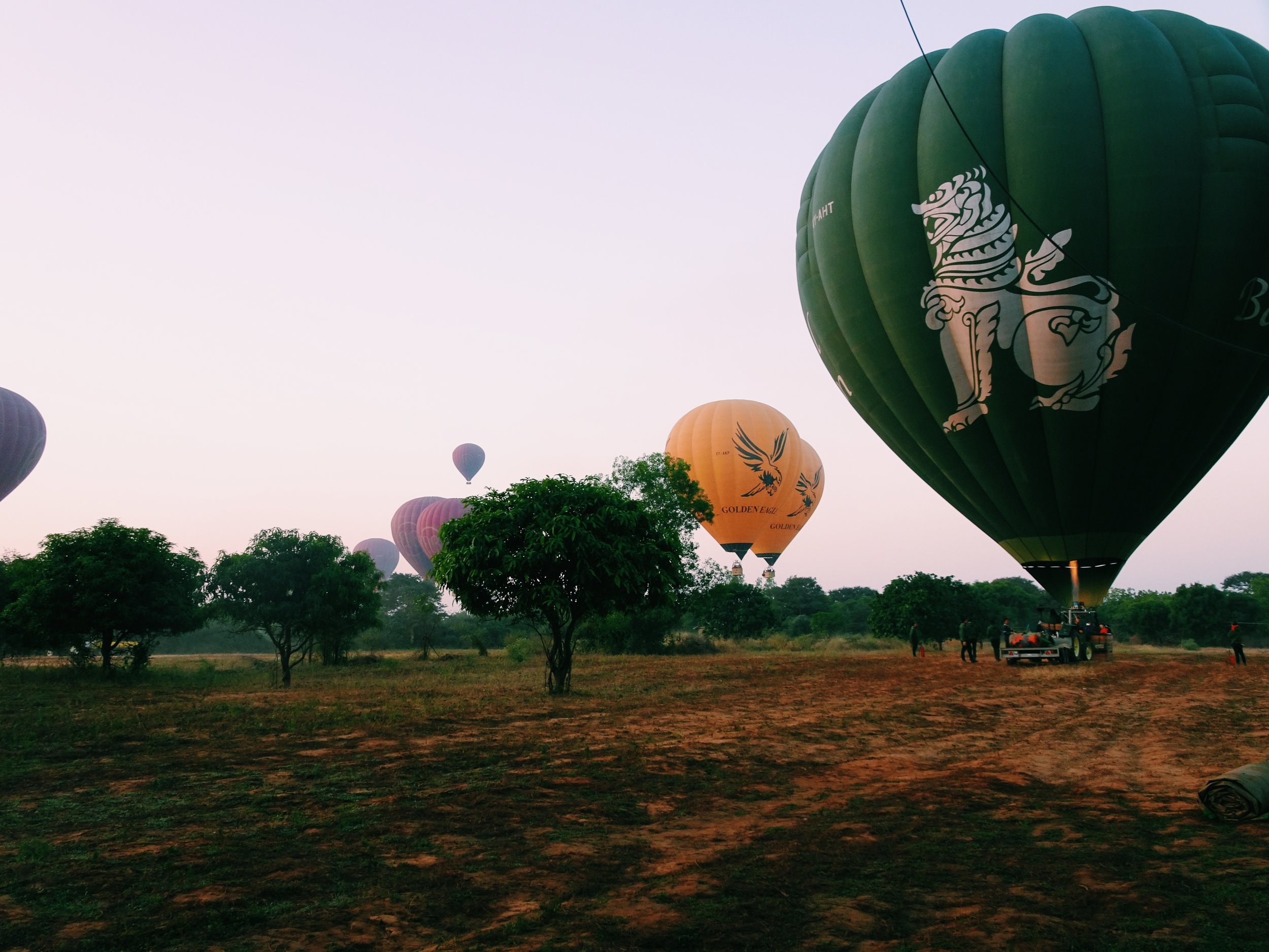 The perfect day bagan balooning