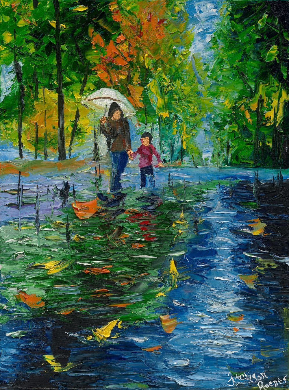 Umbrella Adult with Child - Reprint Available For Purchase