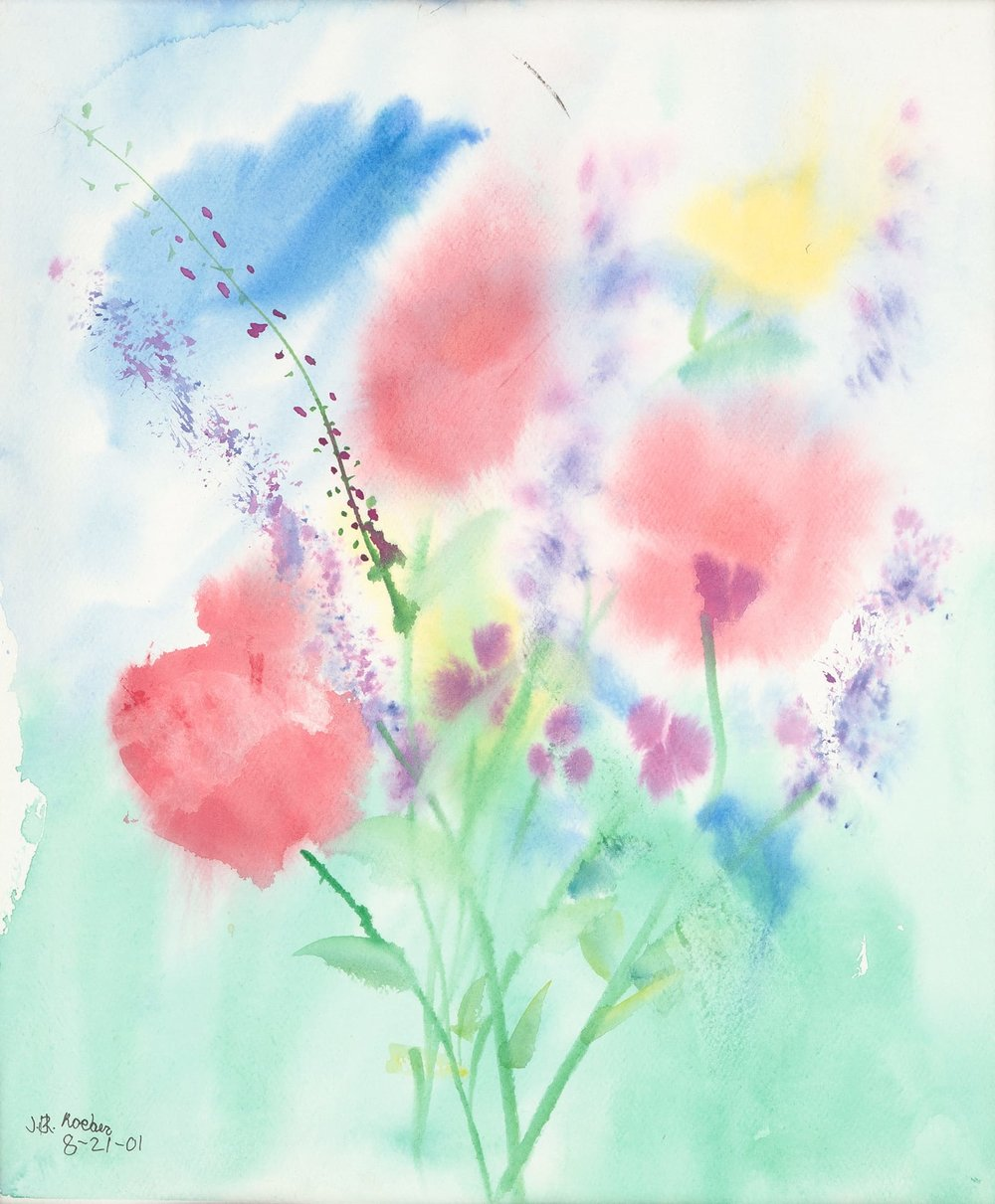 Watercolor Flowers - Reprint Available For Purchase