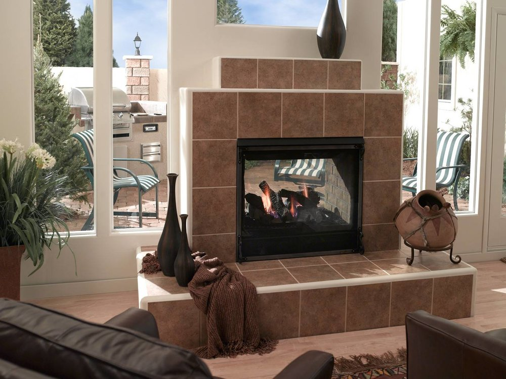 Heat & Glo Carolina    View Full Specs   Heat & Glo's Carolina is anindoor/outdoor see-thru fireplace. Enjoy your fireplace from your family room and patio simultaneously, any time of the year.