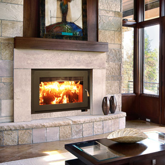 RSF Focus    View Full Specs   The Focus is a truly amazing fireplace. The compact body makes it versatile enough to use as a replacement for an existing fireplace, but the glass viewing space has been maximized. It is also ideal for installations where a raised hearth is desired.