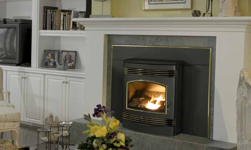 Quadra-Fire Santa Fe Pellet Insert    View Full Specs   The Santa Fe Pellet Insert offers the first performance-inspired, sleek, contemporary design in a pellet insert. It's the perfect solution for busy people who enjoy the beauty of fire, but also want a clean-burning, renewable fuel heat source.