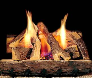 "Heatilator ""Campfire""    View Full Specs   A good look at a great value! Eight richly-detailed logs. Works with three types of burners, Safety Pilot and Remote Ready. Hearth kit/burner sold separately."