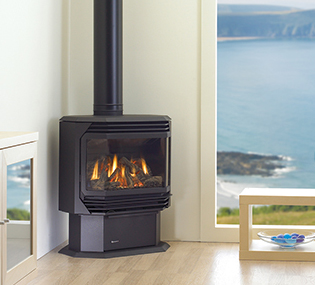Regency Ultimate U39 View Full Specs The clean, modern lines of the Ultimate Gas stove wrap around the realistic gas fire available today. This fire can provide up to 40,000 BTU of high efficiency heat.