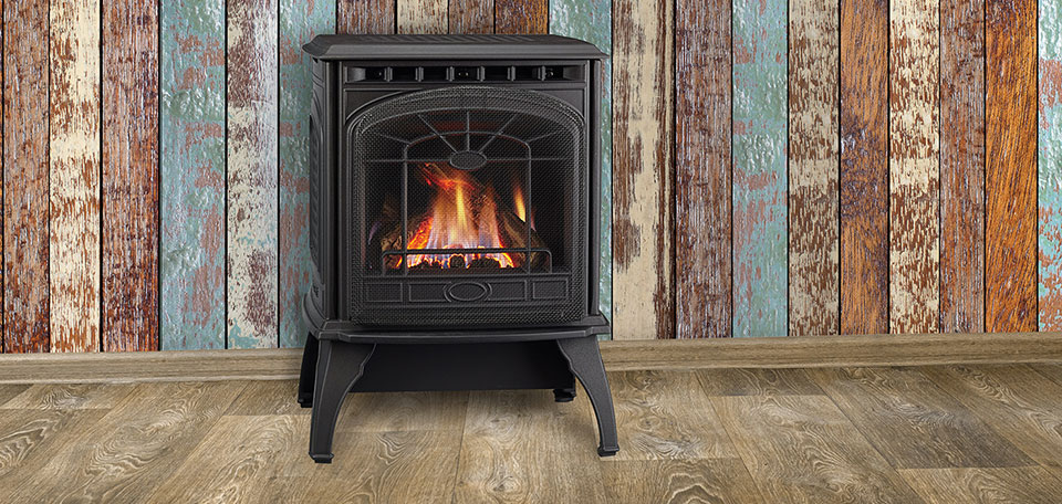 Quadra-Fire Garnet-T View Full Specs The Garnet-T is a little heater with a big heart. A diminutive footprint and impressive design features combine to make this smallest member of the Quadra-Fire family perfect for the bedroom, den or dining room.