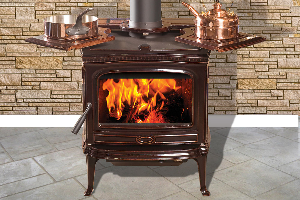 Pacific Energy Alderlea View Full Specs Alderlea T5 is now in your choice of Majolica Brown or Classic Black porcelain enamel. Elegant, traditional cast iron styling combined with the very best features of both cast iron and steel stoves, offer you the perfect blend.
