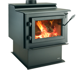 Heatilator Eco Choice View Full Specs The Eco-Choice WS22 large wood stove combines dependability with value. The WS22 features a wide door opening with single-lever operation and an air wash system to keep the glass clean. This simple design, plus quality you can see and feel, will deliver warmth and comfort to any room of your home.