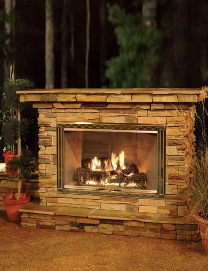 Heat & Glo Dakota    View Full Specs   All gas, rugged and designed for the great outdoors. Dakota is the world's first gas fireplace developed specifically for outdoor use. Dakota delivers all the convenience, efficiency and ambiance of a gas fireplace in the beauty of an outdoor setting.