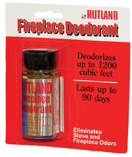 Fireplace Deodorant Stops annoying stove and fireplace odors during damp humid weather.