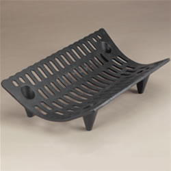 Safety Grate One piece cast iron grate with a contoured shape.