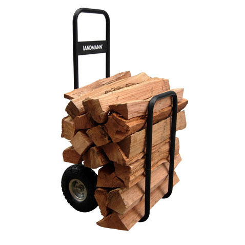 Firewood Caddy Heavy duty steel, black w/waterproof cover.
