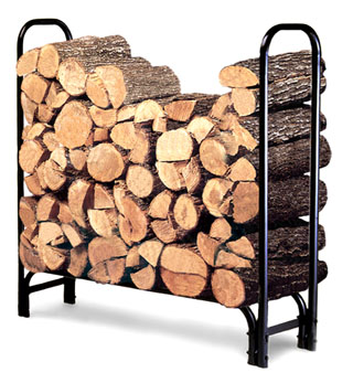 Log Rack Heavy duty steel, easy assembly, 4' & 8' sizes, cover available for 8' rack.