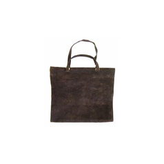 Suede Carrier Dark brown suede with open end to accommodate a variety of log sizes.