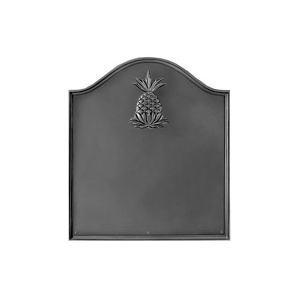 Cast Iron Fireback Matte black, many different embossed designs available.