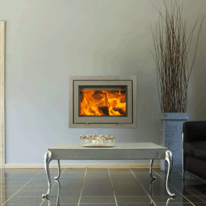 Wittus H530 Wood Insert    More Info at Wittus.com   The H530 is simple and stylish. It is easy to install and transforms an inefficient existing fireplace into a warm, inviting, radiant heat source. This results in greater efficiency and control with reduced fuel consumption.