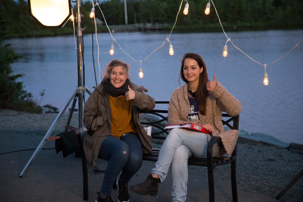 Director mentor Lindsay MacKay with the 2016 RBC MJAward winner Emily Bridger