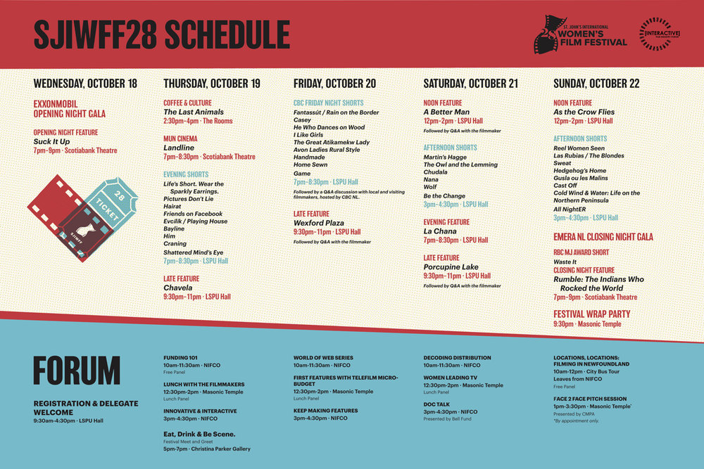 SJIWFF28 Schedule