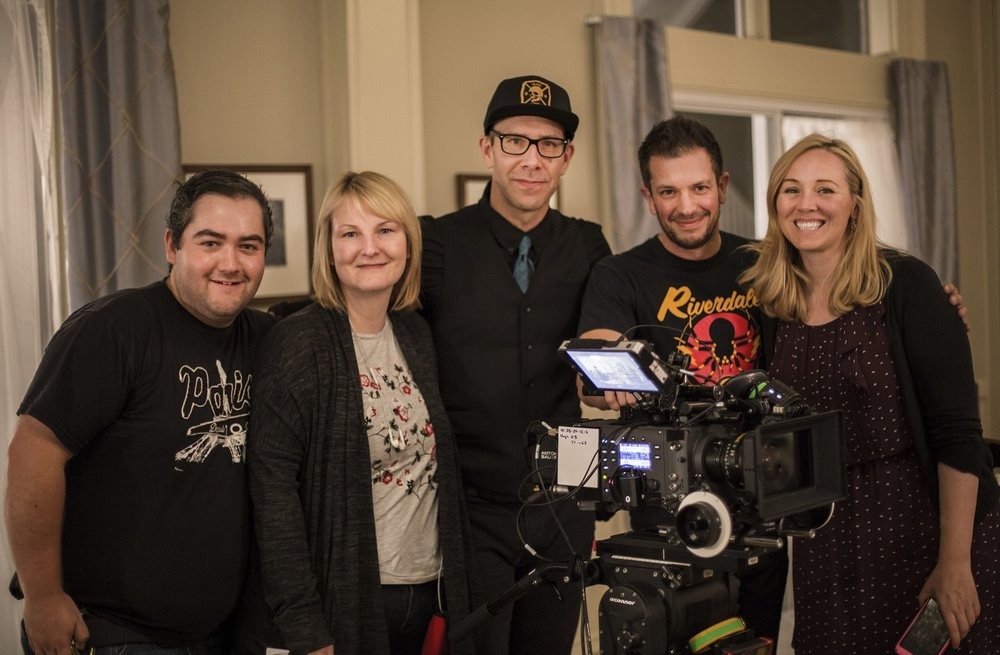 Latonia and Deanne with DOP Jeff Wheaton (centre) and Camera Team Photo by Claire Fraser