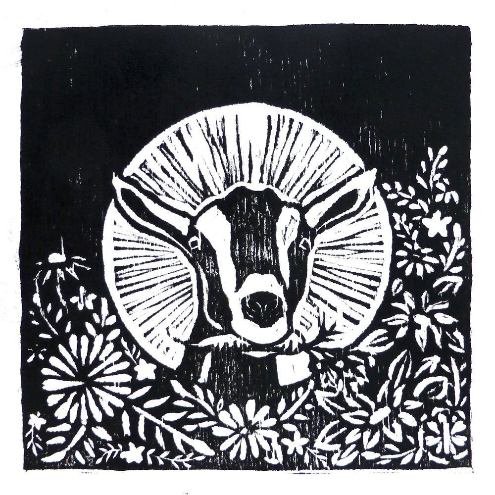Nomad Farm  // Hand-printed woodblock cards