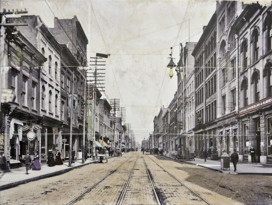 Gay Street, circa 1900, 12 x 16 in.