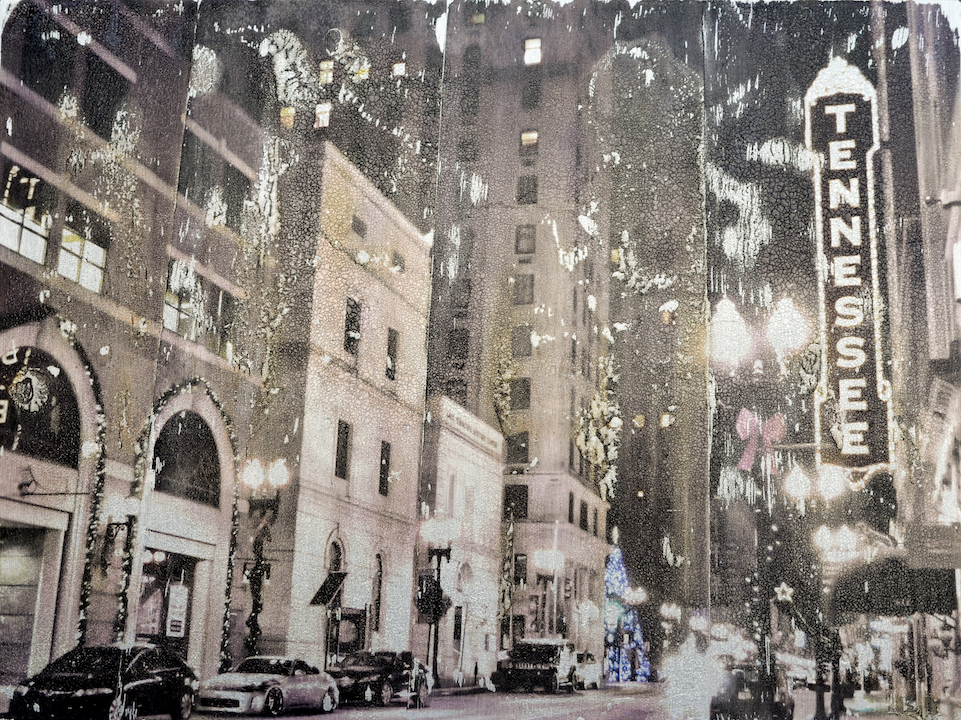 Tennessee Theater Holiday, 12 x 16 in. (on aluminum)