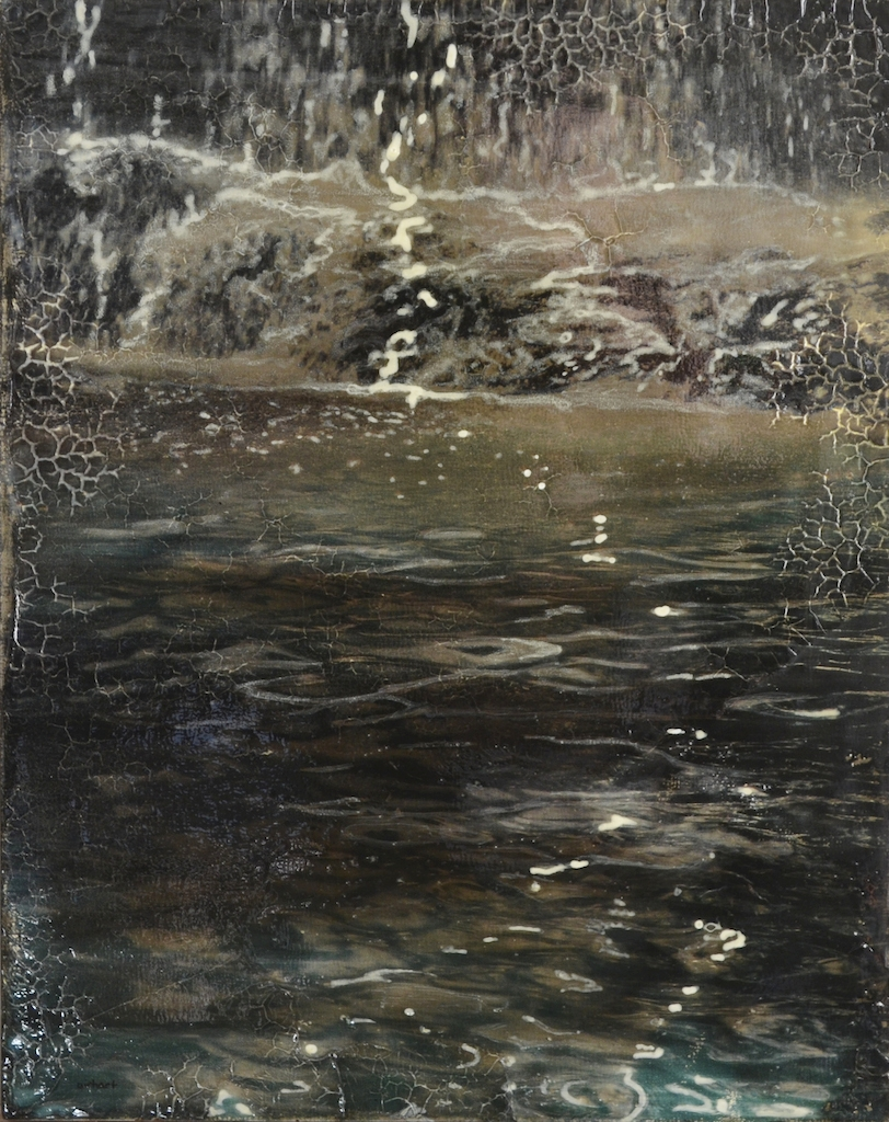 Moonlit Falls, pigment transfer on panel with acrylic & oil, 10 x 8 in - web.jpg
