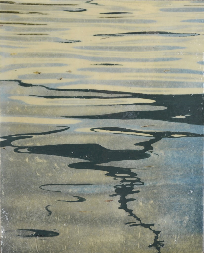 Reflection in Steel Gray, pigment transfer on panel with acrylic & oil, 10 x 8 in - web.jpg