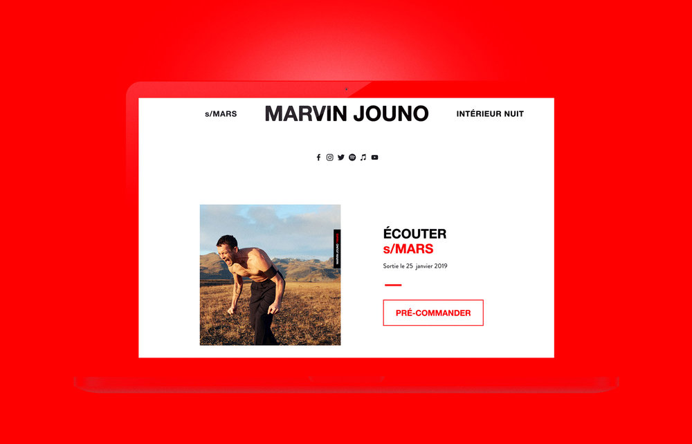 Marvin Jouno site internet