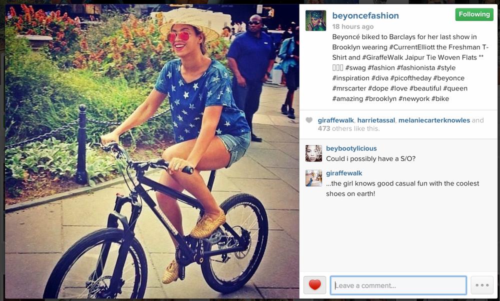 beyonce biking
