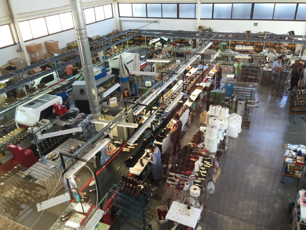 One of our collaborating Spanish shoe factories  (click for a video)