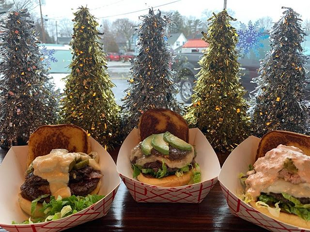We have SO MANY SPECIALS!!!!!! come on in and try them all!!!! * We have a stocking stuffer burger with bacon, short ribs, jalapeños, and a 3 cheese sauce, all on a burger patty!!!!! * Hamson and Delilah Burger with Swiss, Ham Salad, Lettuce, Bacon, Sweet Relish, and Hush * Jingle Bells with Gruyere Cheese, Roasted Tomato, Lettuce, Avocado, and Brown Sauce!!!!!! *  Come on in and try us out!!!!