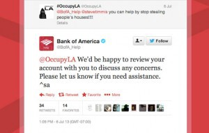 Bank of America's bad Twitter Reply