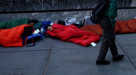 People Camping out for the new iphone