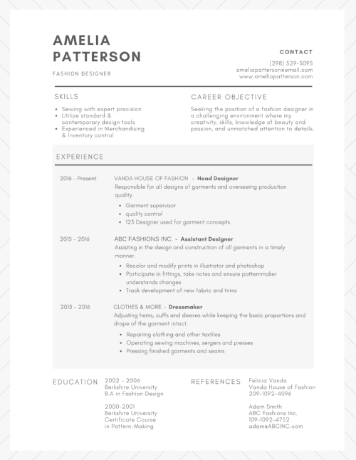 FINISHED RESUME EXAMPLE - CREATED IN CANVA