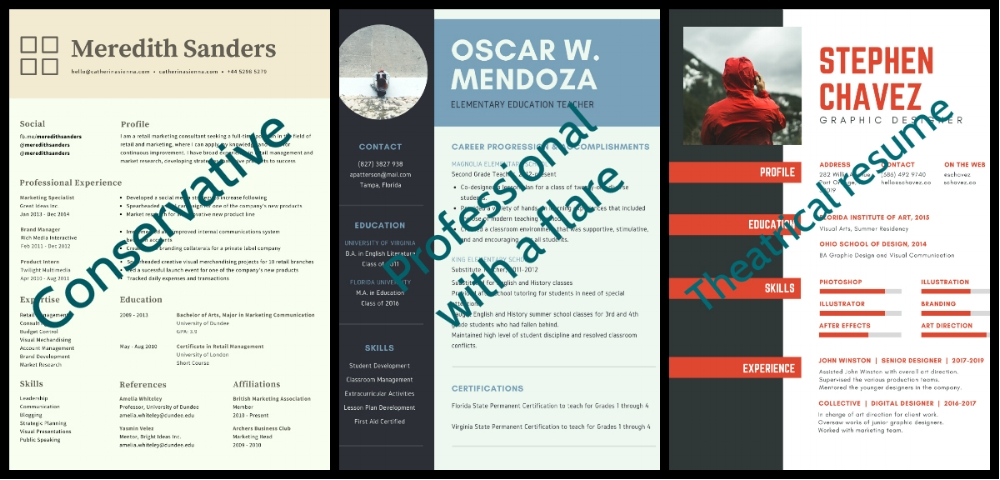 DIFFERENT RESUME EXAMPLES