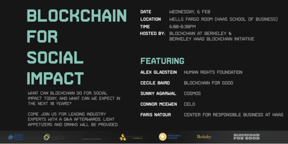 Sing-up here: https://www.eventbrite.com/e/blockchain-for-social-impact-panel-at-uc-berkeley-tickets-55532805115
