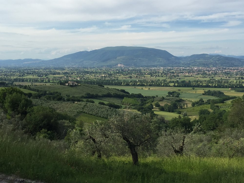 The valley in central Umbria where welive.