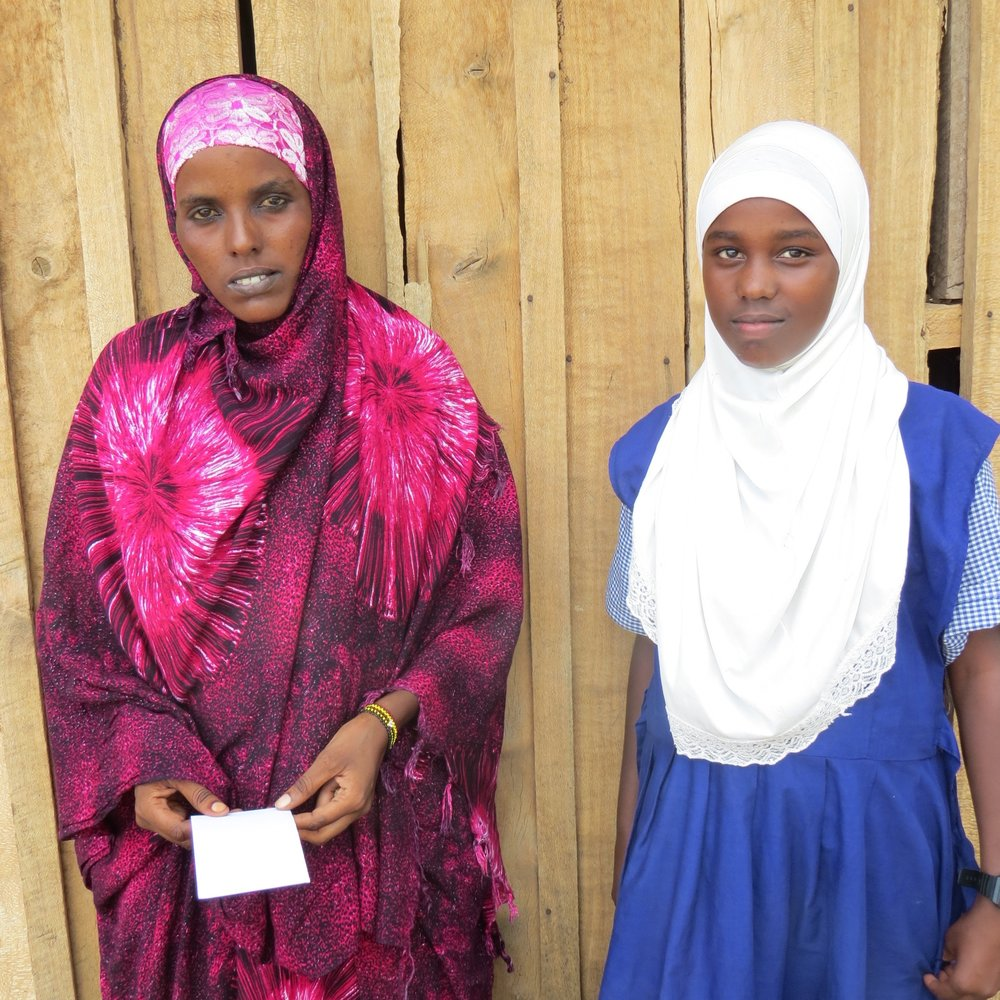 Dahabo Abdullahi at Kachiuru Primary School with her mom